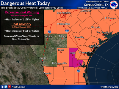 Heat Advisory in effect for 7th straight day