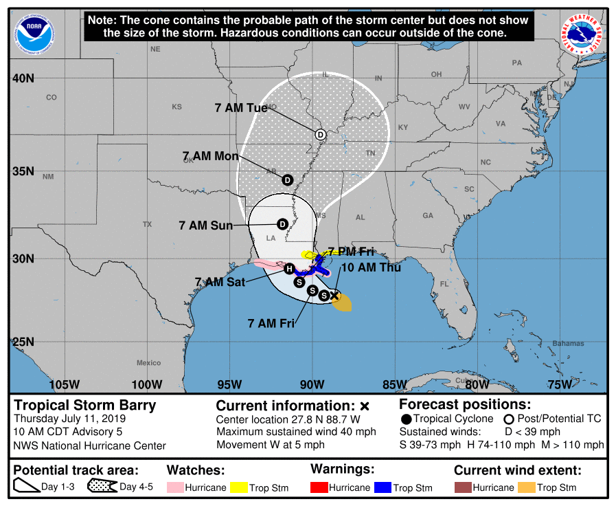 A low pressure system in the Gulf has intensified into a tropical storm