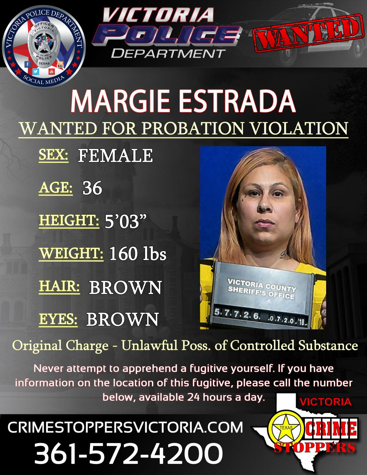 Victoria Crime Stoppers searching for  Margie Estrada