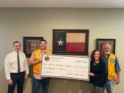 Neighbors Helping Neighbors: Victoria Lions Club donated to VISD Education Foundation