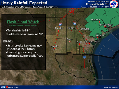 Regional flash flood watch