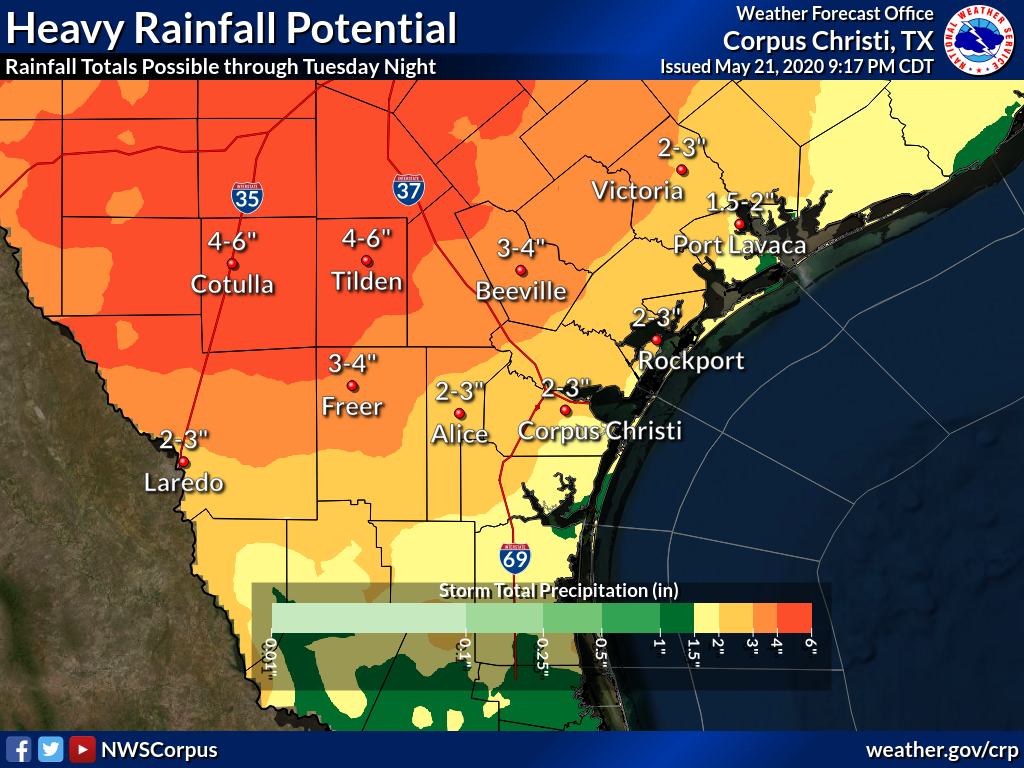 Heavy rain and storms possible through Memorial Day weekend