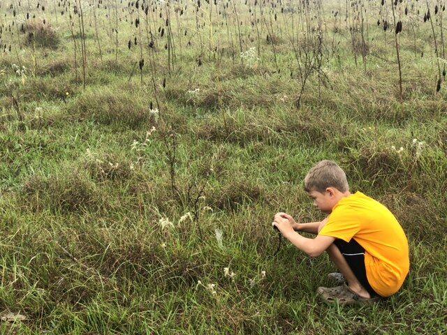 Dean Rosas photographs a spider web