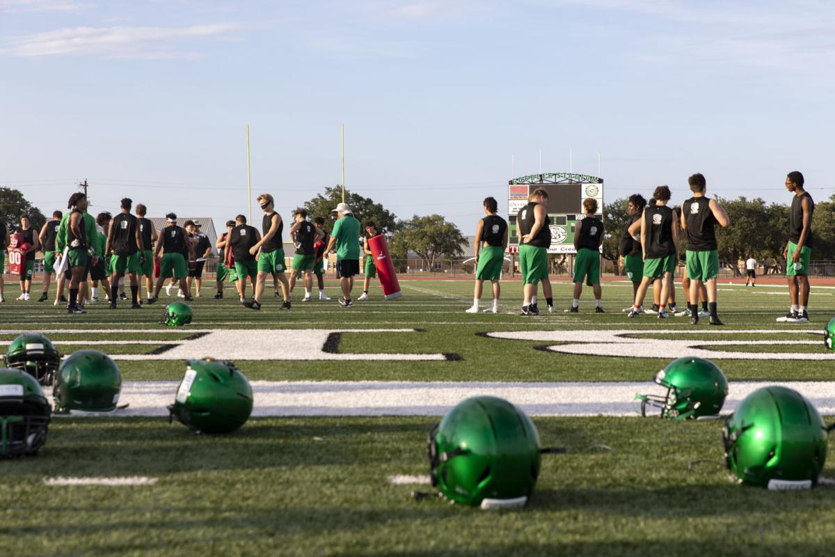 Cuero High School holds their first football practice