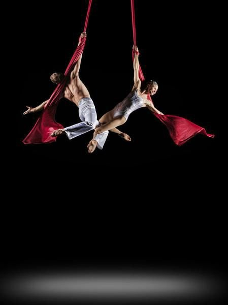 Aerial artists bring circus to symphony (video)