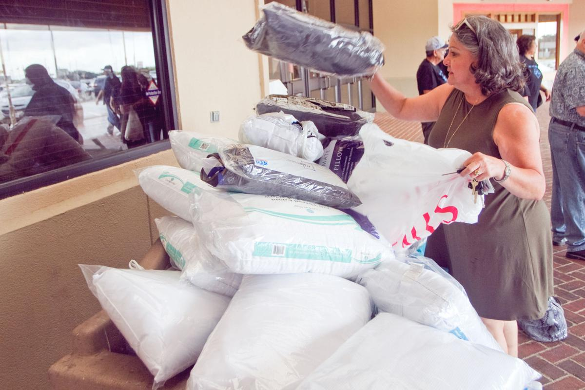 Family collects pillows for homeless