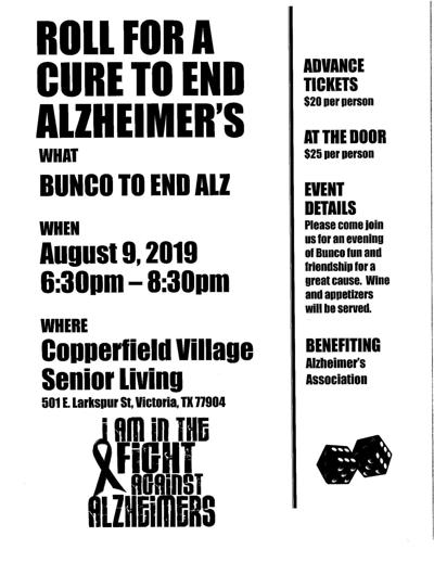 Bunco to End Alz