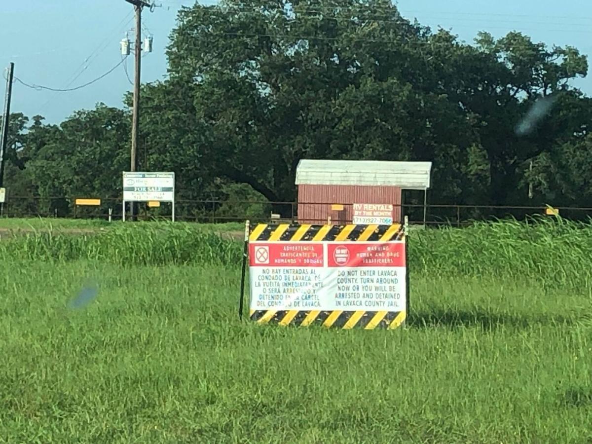 Lavaca County signs