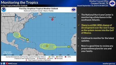 National Hurricane Center watching disturbance in Atlantic Ocean