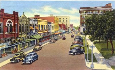 Downtown Victoria in the 1940s