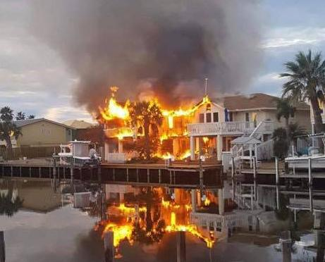 Fabulous Waterfront Home Burns In Key Allegro News Interior Design Ideas Ghosoteloinfo