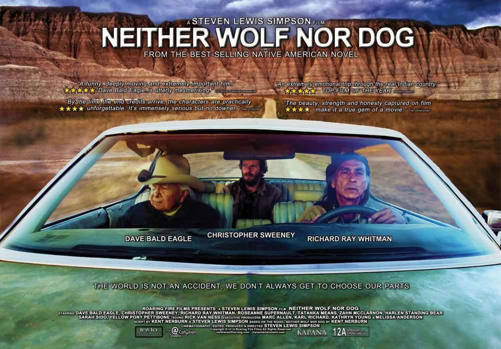 """Movie poster for """"Neither Wolf Nor Dog"""""""