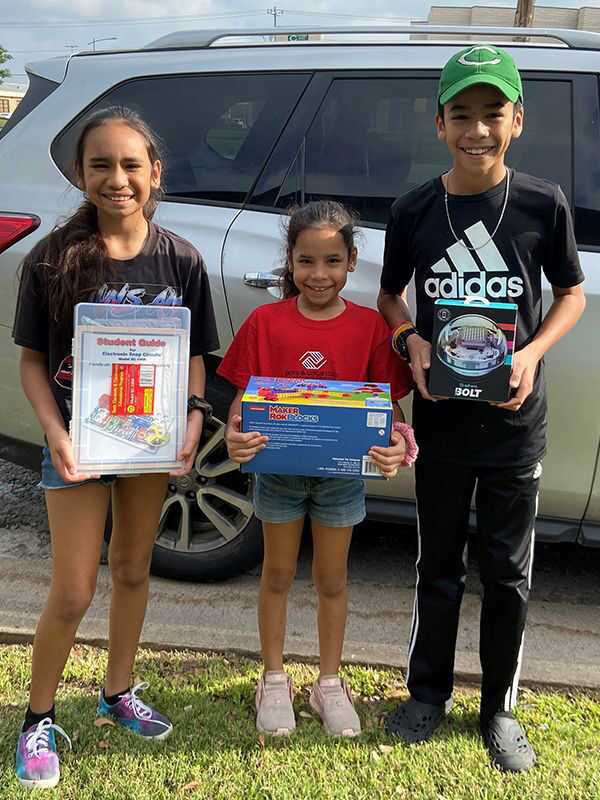 Neighbors Helping Neighbors: Boys & Girls Club students receive take-home STEM Kits