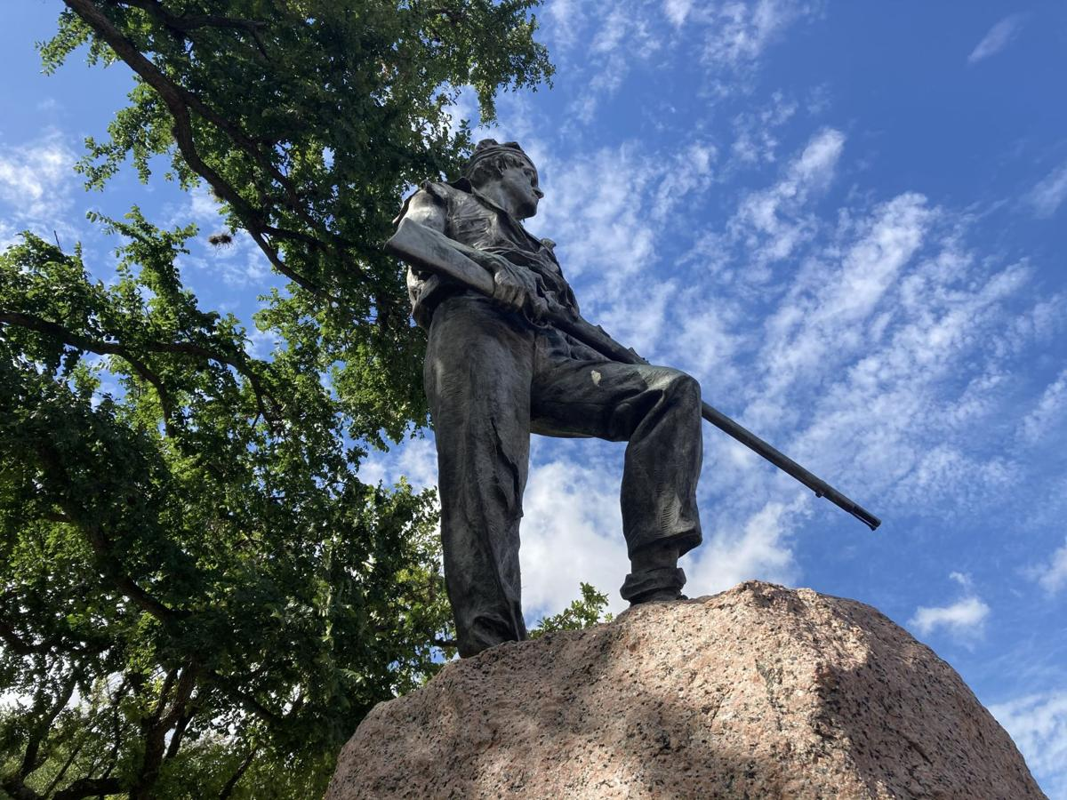 Confederate monument in DeLeon Plaza