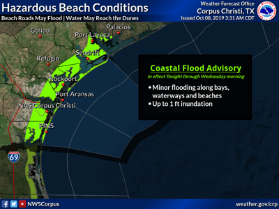 Coastal flooding advisory in effect