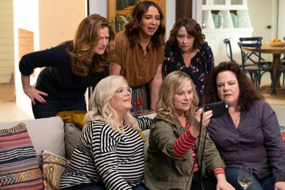 A scene from Amy Poehler's comedy 'Wine Country' featuring former SNL alumnae