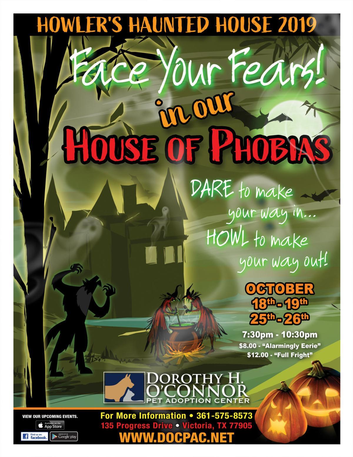 Howler S Haunted House Of Phobias Calendar Victoriaadvocate Com