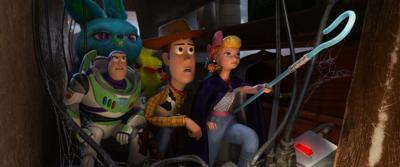 New toys join old favorites for a new adventure in 'Toy Story 4'