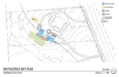 Matagorda Bay Distillery blueprints as of October