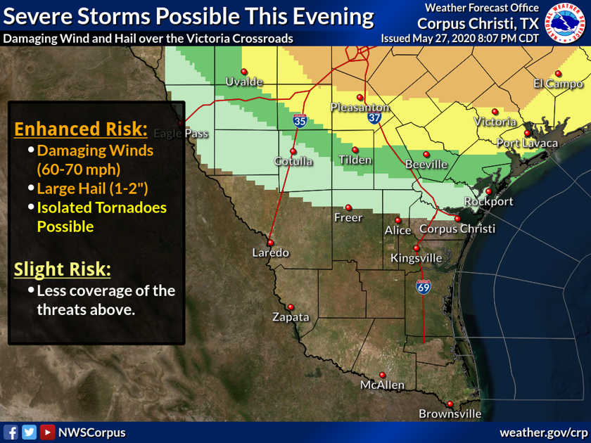 Severe thunderstorms possible Wednesday night for Crossroads