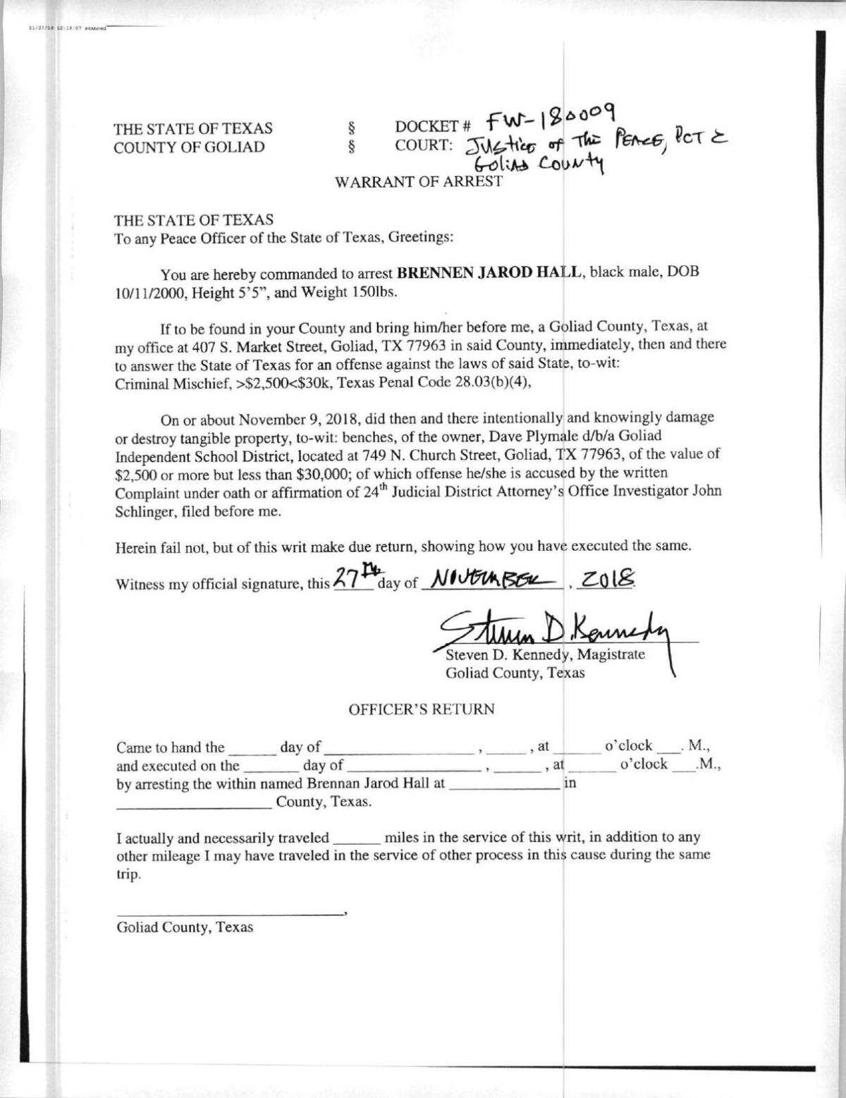 Grand jurors to return in mid-February for Goliad locker
