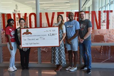 UHV students donate $2,000 to food bank through meal plans