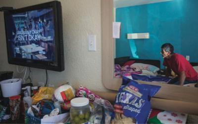 Hurricane Harvey survivors spend Christmas at Motel 6 FILE