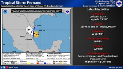 National Hurricane Center issues warnings in the Gulf for Tropical Storm Fernand
