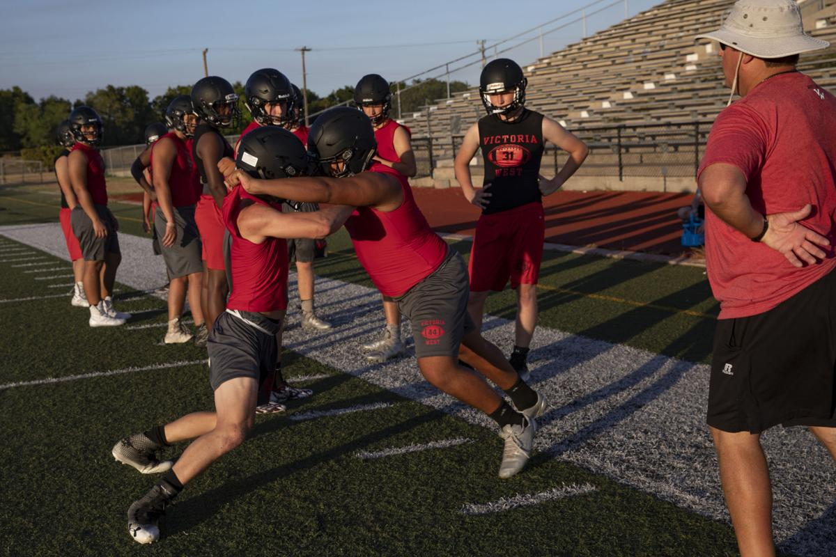Victoria West holds first football practice