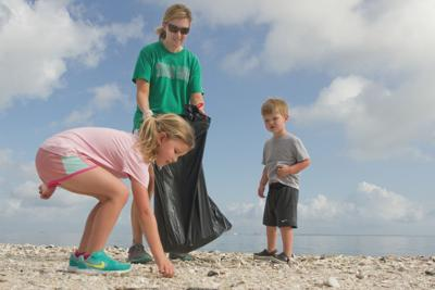 Residents take part in spring beach cleanup