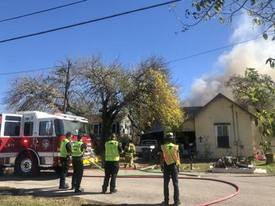 Troy Street home burns in Victoria