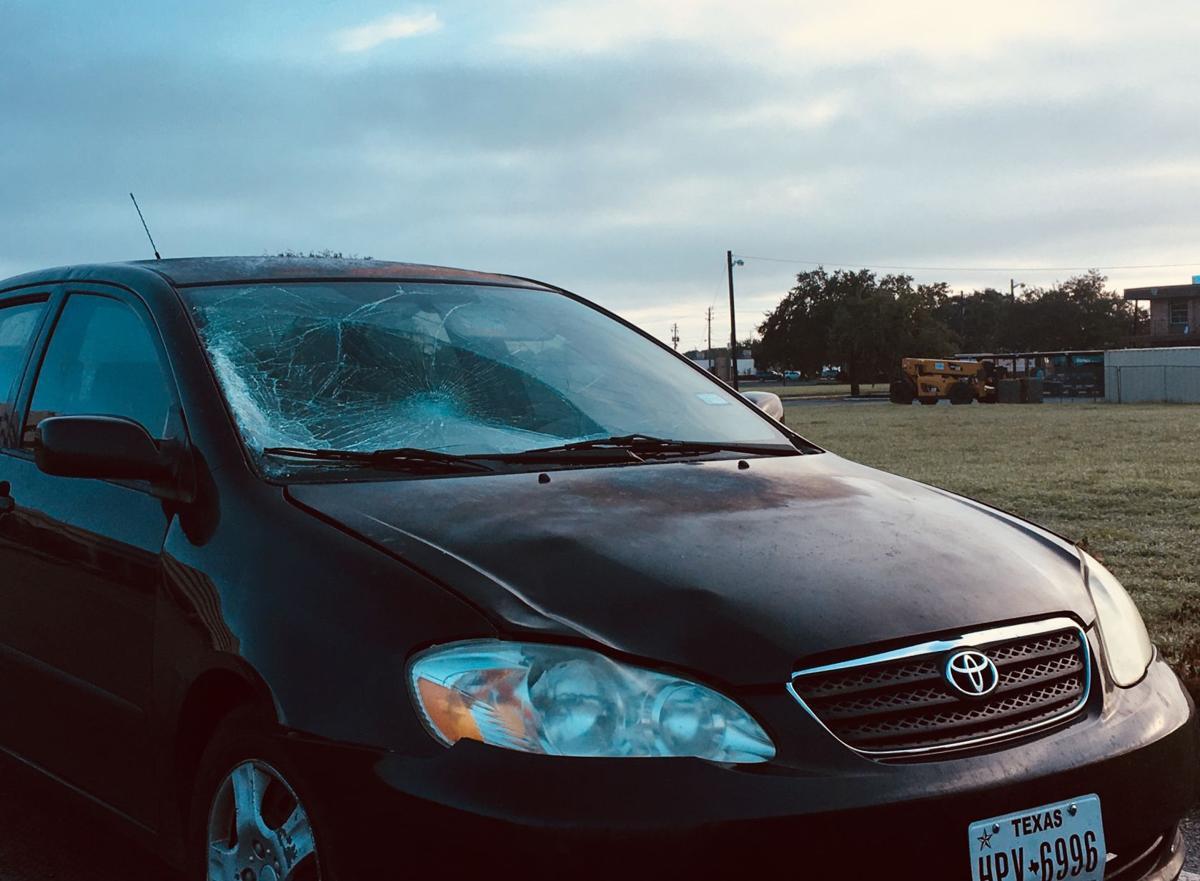 Morning crash, teen hit