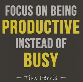 Busy vs. productive quote