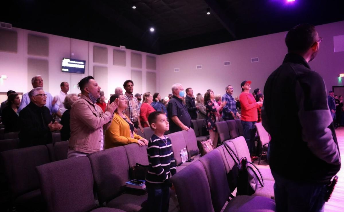 Congregation of Parkway Port Lavaca celebrate opening of new church building.