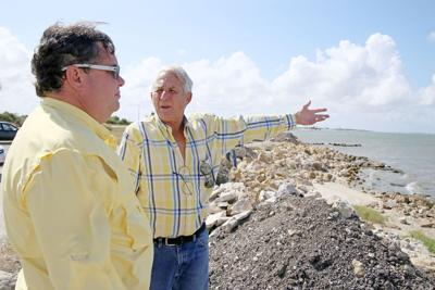 Coastal residents work to slow beach erosion