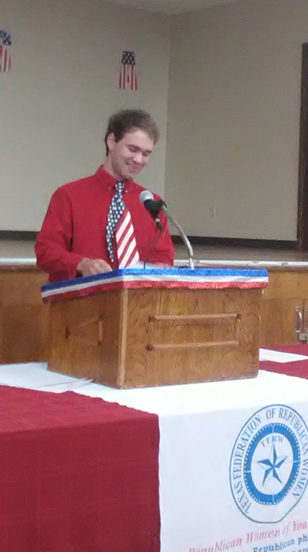 John Wenske of Moulton High School recently won the Republican Women of Yoakum's annual Constitutional essay contest