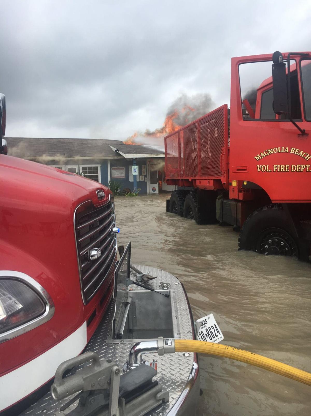 Indianola Fishing Marina succumbs to fire, flooding