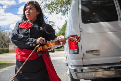 Mariachis sing surprise serenades
