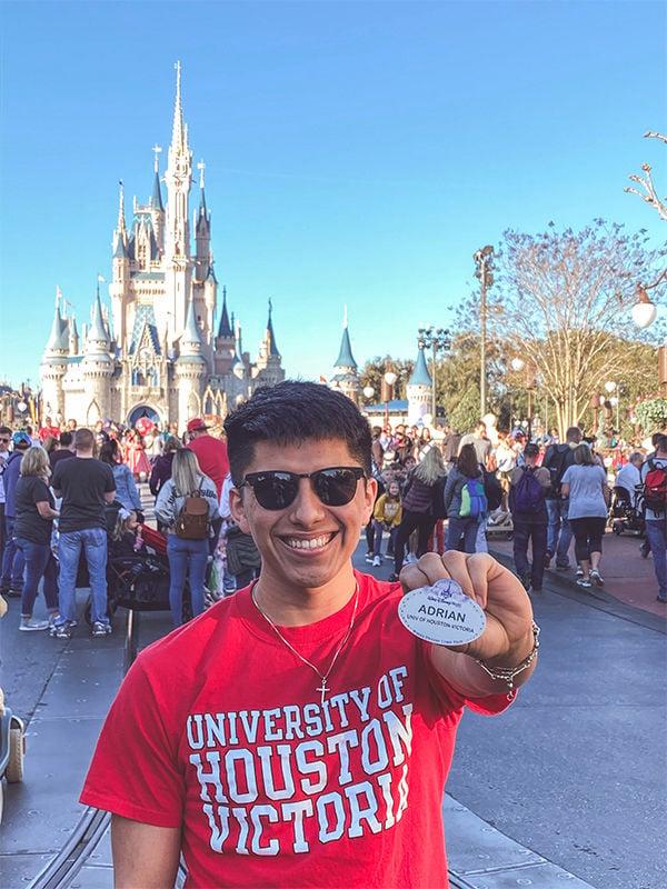 UHV student lands internship at Disney World