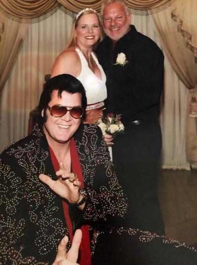 "Couple eloped to Las Vegas for ""Elvis"" wedding"