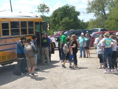 Law enforcement escort Meyersville, Westhoff, Cuero school buses after reported threat