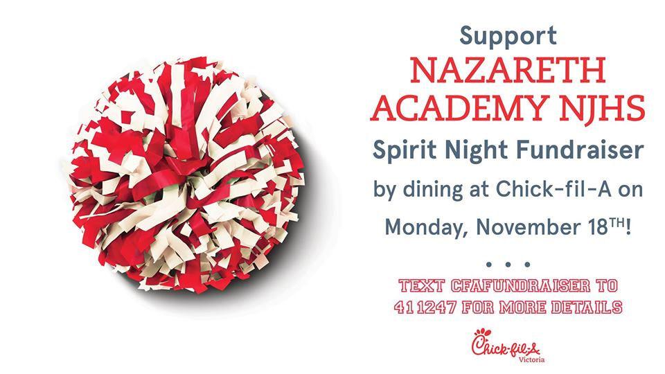 Nazareth Academy Spirit Night at Chick-fil-A