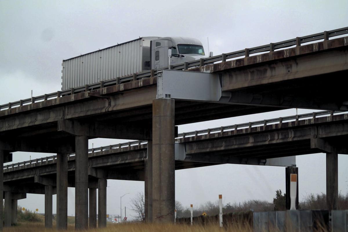 Driving along the U.S. 59 overpass