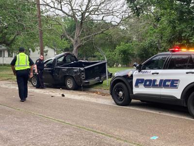 Police say black pickup ran stop sign