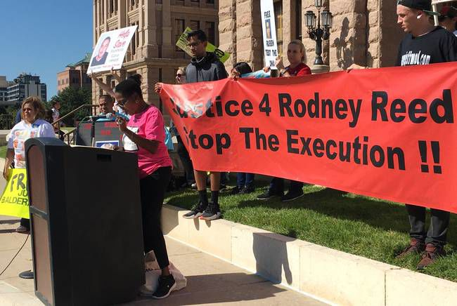 Free Rodney Reed protest