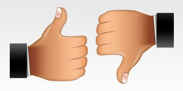Thumbs-up, thumbs-down; it's your choice