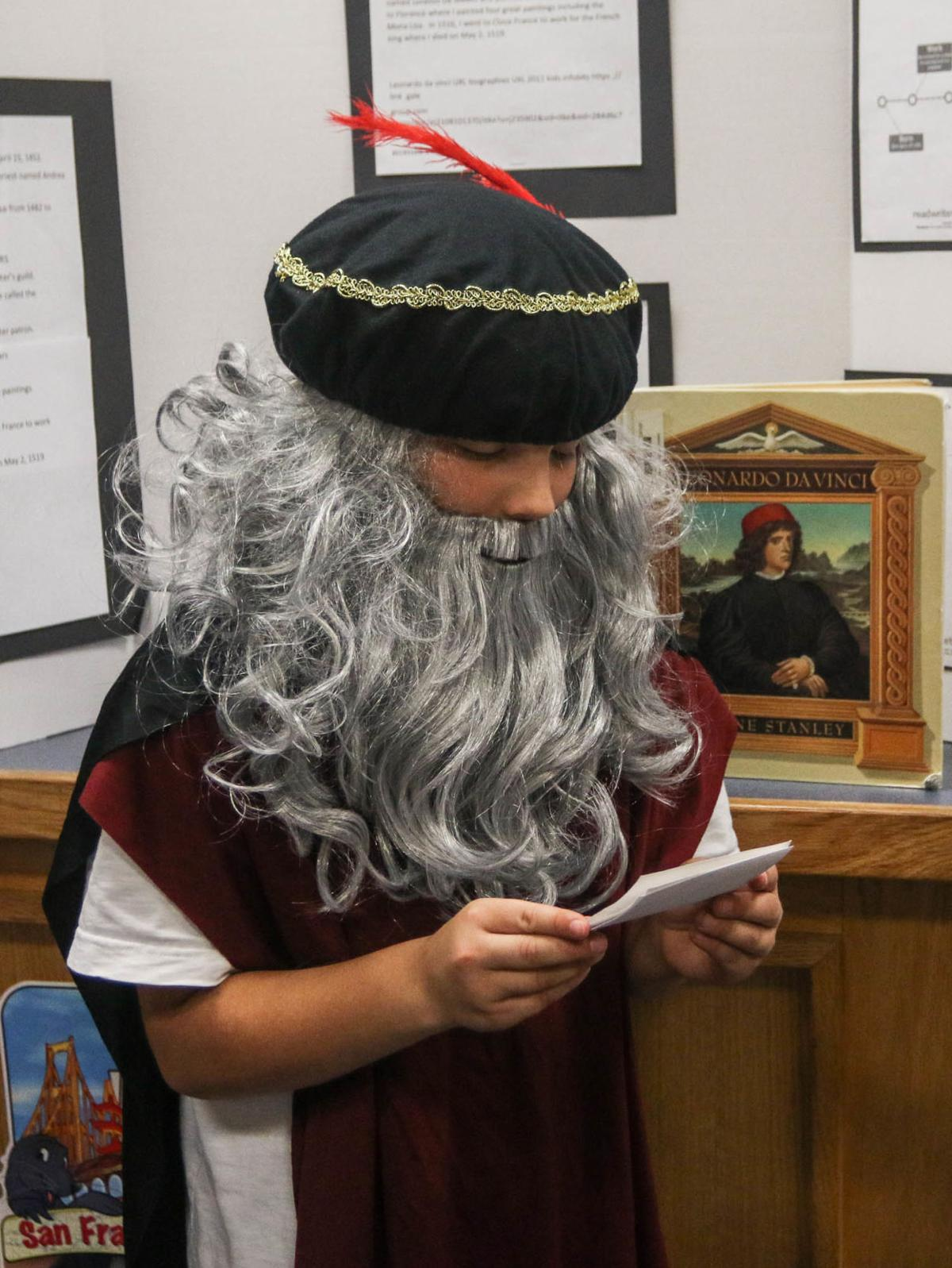 Students create live wax museum