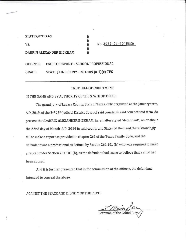 Indictment documents