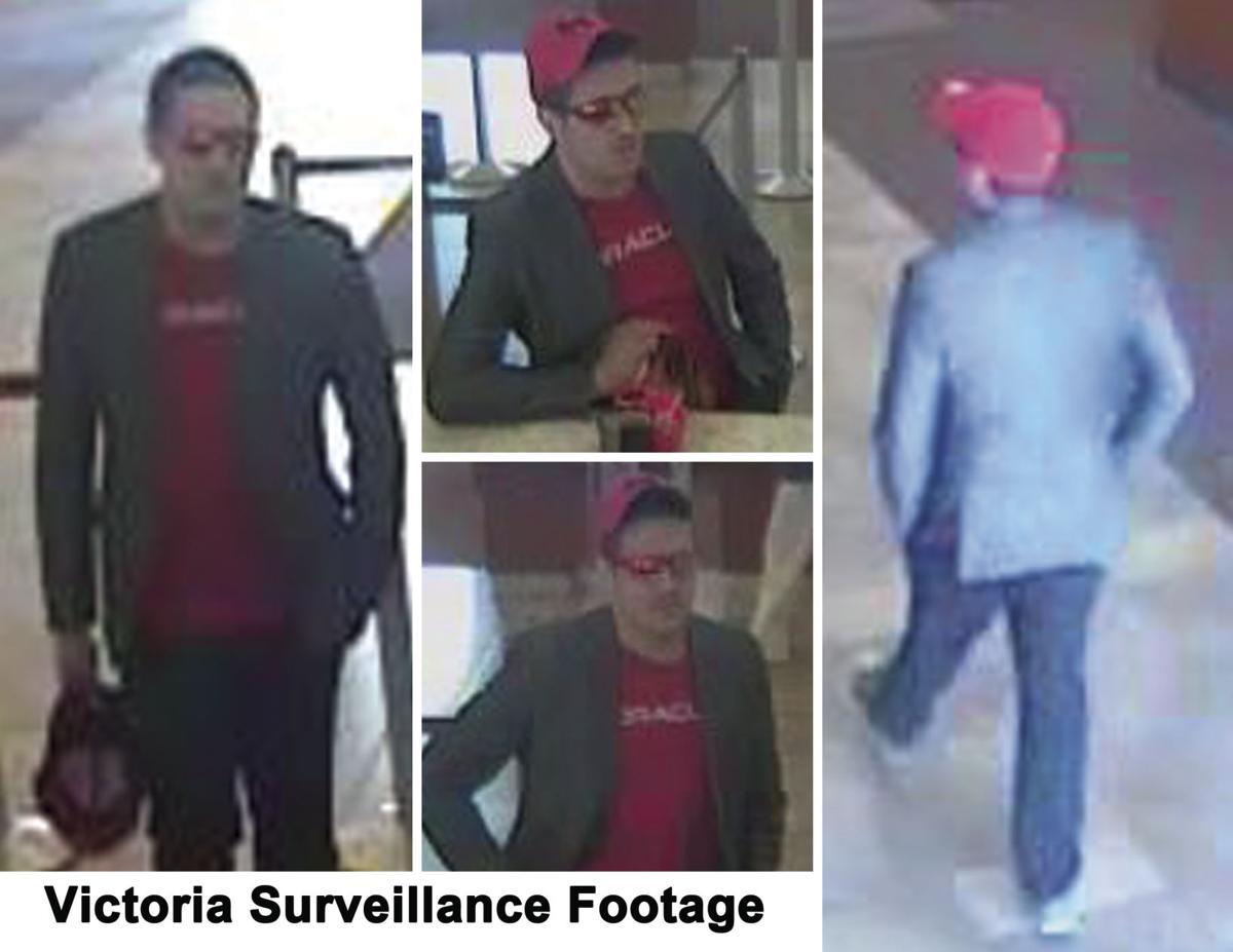 Surveillance footage from Wells Fargo robbery in Victoria