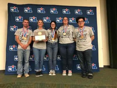 Moulton High School Current Issues team places 3rd at the State UIL Meet